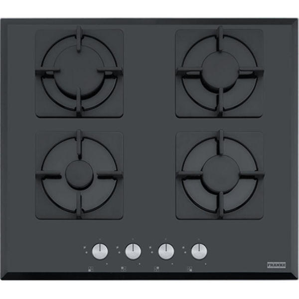 Franke Glass Lınear Square FHNS 604 4G BK C Siyah Cam Ankastre Ocak resmi