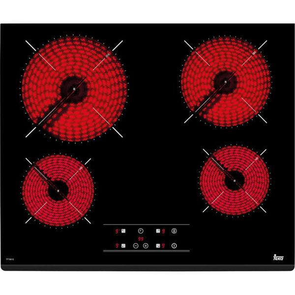 Teka TZ6415 Siyah Cam Seramik Elektrikli Ankastre Ocak resmi
