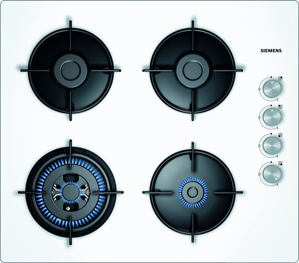 Siemens EO6C2HO10O BEYAZ CAM WOKLU ANKASTRE OCAK resmi