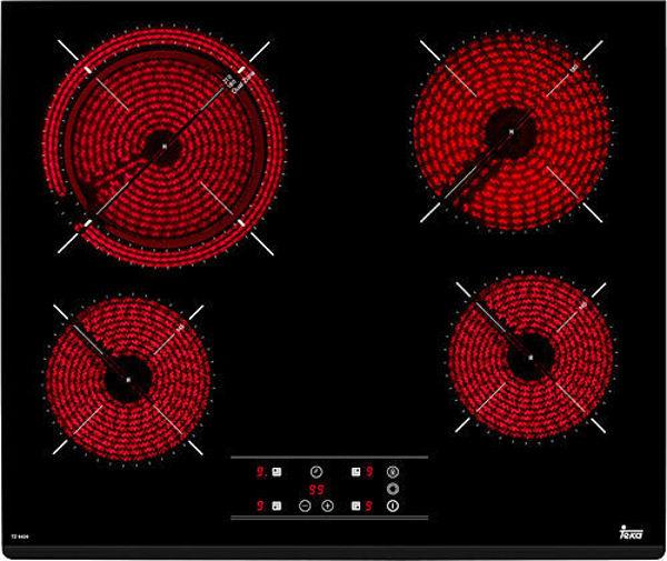 Teka TZ 6420 Siyah Cam Seramik Elektrikli Ankastre Ocak resmi
