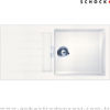 Schock Signus D100 L Polaris-99-CR Std Beyaz Granit Evye resmi
