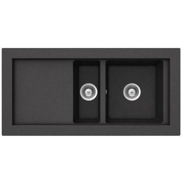 Teka Aura 60 B-TG Metalik Siyah Granit Evye resmi