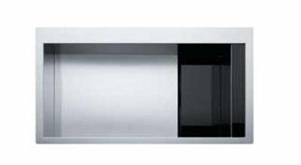 Franke Crystal Lıne Slimtop CLV 210 Siyah/Paslanmaz Çelik Evye resmi