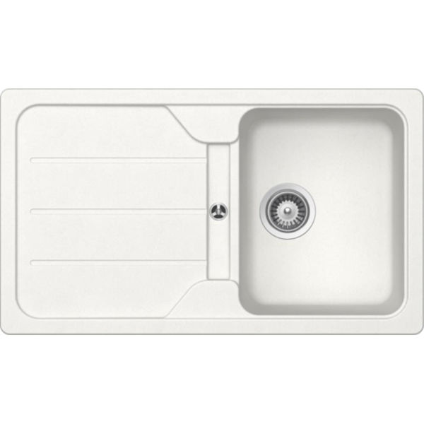 Schock Formhaus D100 Alpina (Beyaz) Granit Evye resmi