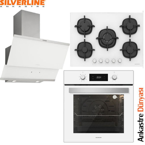 Silverline Beyaz Ankastre Set [Classy90+CS5364W+BO6504W] (SLV77) resmi