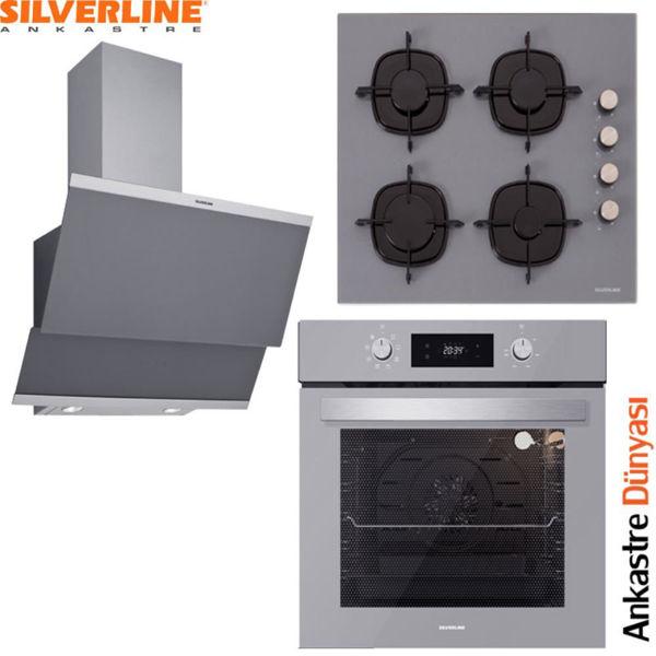 Silverline Ankastre Set [CLASSY60+CS5335S+BO6504S] (SLV82) resmi