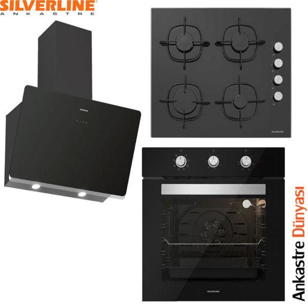 Silverline Ankastre Set [SOHO60+CS5335B01+BO6503B01] (SLV83) resmi