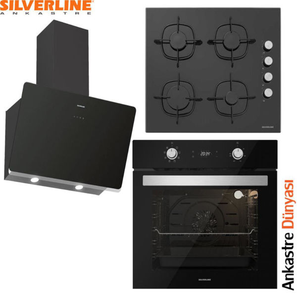 Silverline Ankastre Set [SOHO60+CS5335B01+BO6504B01] (SLV84) resmi