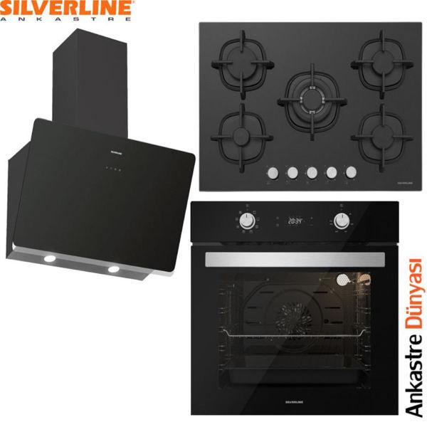 Silverline Ankastre Set [SOHO60+CS5364B01+BO6504B01] (SLV85) resmi