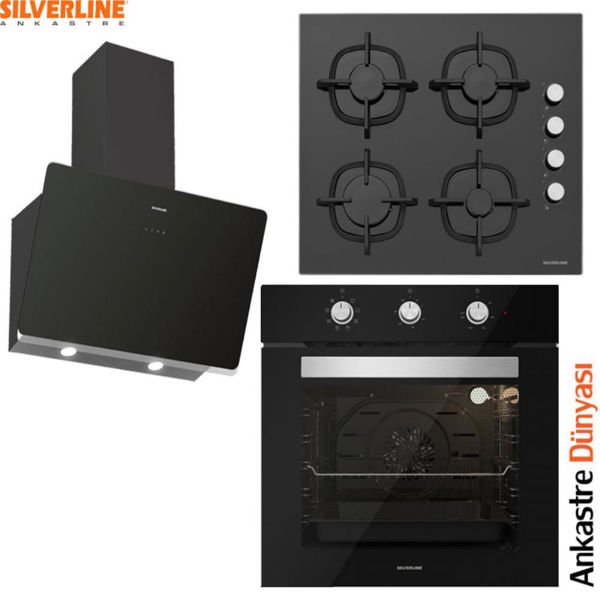 Silverline Ankastre Set [SOHO60+CS5343B01+BO6503B01] (SLV91) resmi