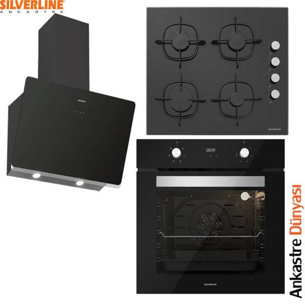 Silverline Ankastre Set [SOHO60+CS5335B+BO6502B01] (SLV98) resmi