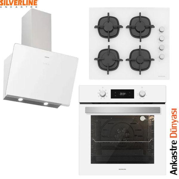 Silverline Beyaz Ankastre Set [SOHO60+CS5343W+BO6504W] (SLV100] resmi