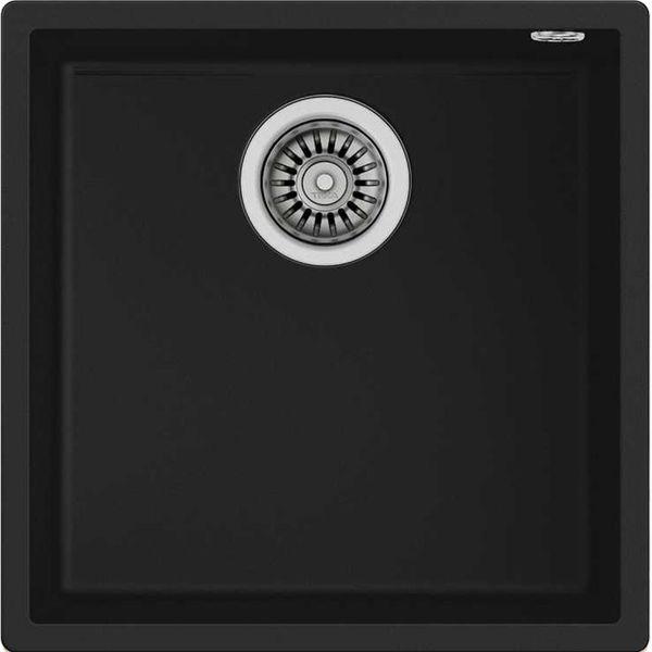 Teka SQUARE 40.40 TG (Black) Siyah Granit Evye resmi