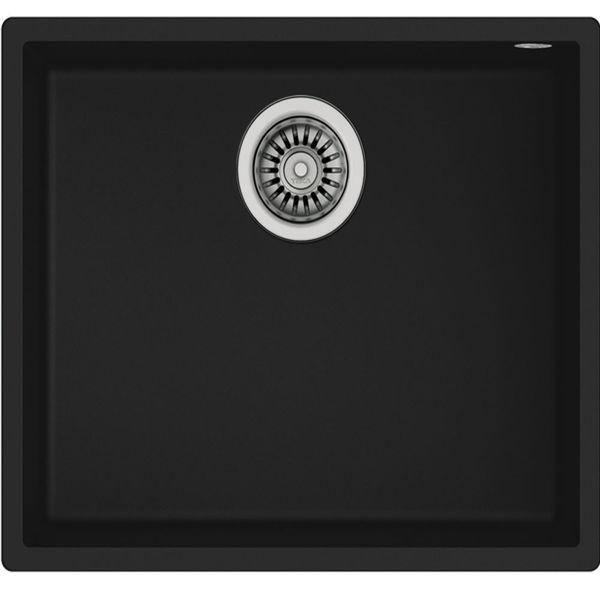 Teka SQUARE 50.40 TG (Black) Siyah Granit Evye resmi