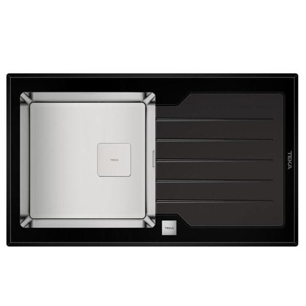 Teka DIAMOND RS15 1B 1D 86 (WST BLACK) Siyah Cam Evye resmi