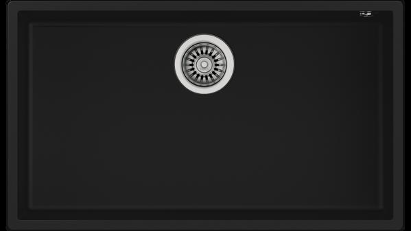 Teka SQUARE 72.40 TG (Black) Siyah Granit Evye resmi