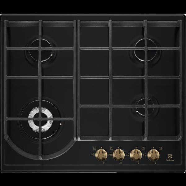 Electrolux EGH6343ROR Rustik Siyah Ankastre Ocak resmi