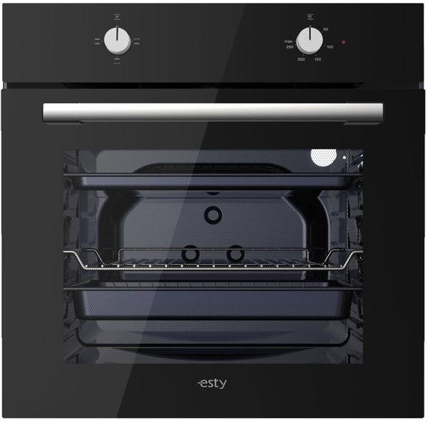 Esty Eko AEF6601B01 Siyah Cam Statik Ankastre Fırın resmi