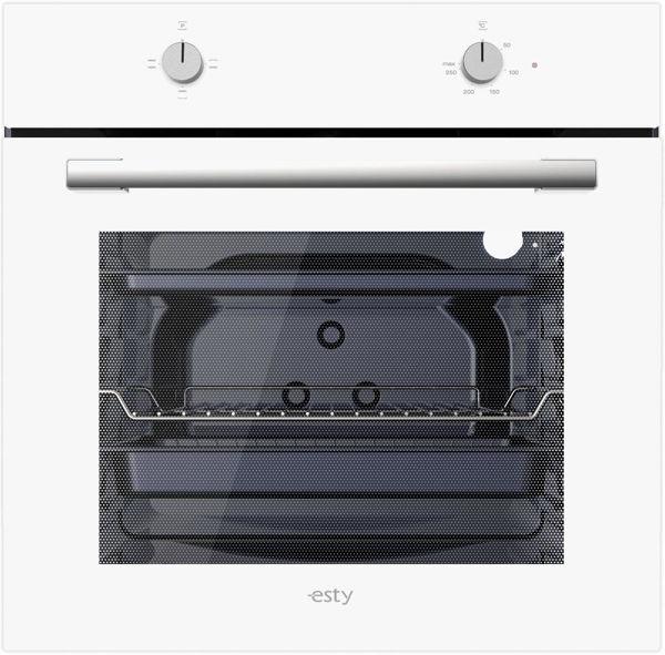 Esty Eko AEF6601W01 Beyaz Cam Statik Ankastre Fırın resmi
