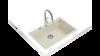 Teka FORSQUARE 72.40 TG (Bright Cream) Krem Granit Evye resmi