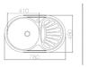 Vera V-06 Tezgaha Sıfır SOL Dekorlu Eviye (48*78) resmi
