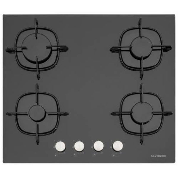 Silverline CS5436B01 Siyah Cam Ankastre Ocak resmi