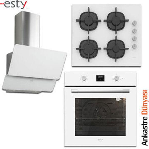 Esty Beyaz Ankastre Set [3471.6W+ACO5360W+AEF6603W] (ES29) resmi