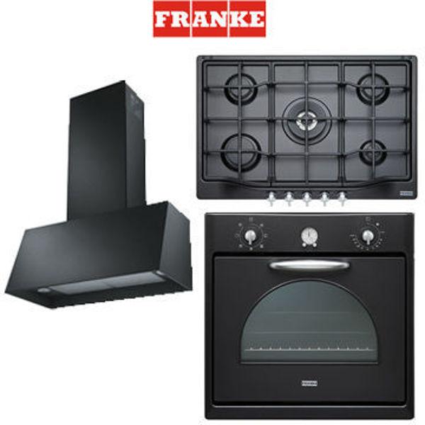 Franke Contry Black Mat Serisi [CM65MBT+FHTL7554GTCBTC+TRENDLINEBK70] resmi