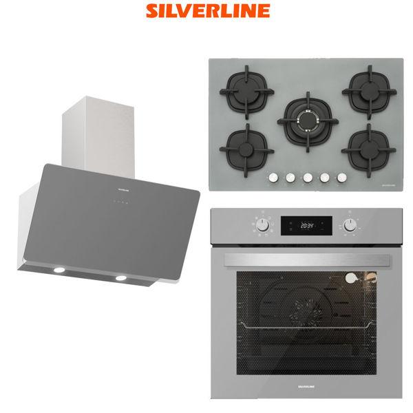 Silverline Gri Ankastre Set [SOHO80S+CS5364S+BO6504S] (SLV104) resmi