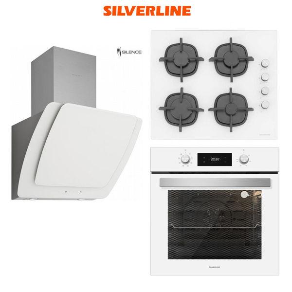 Silverline Beyaz Ankastre Set [MISTO60+CS5343W+BO6504W] (SLV114) resmi