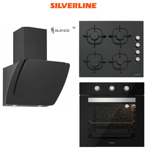 Silverline Ankastre Set [MISTO60+CS5335B+BO6503B] (SLV120) resmi