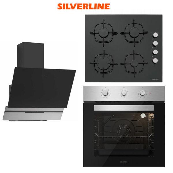 Silverline Ankastre Set [SLIM-LINE BASIC60+CS5335B+BO6503X] (SLV124) resmi