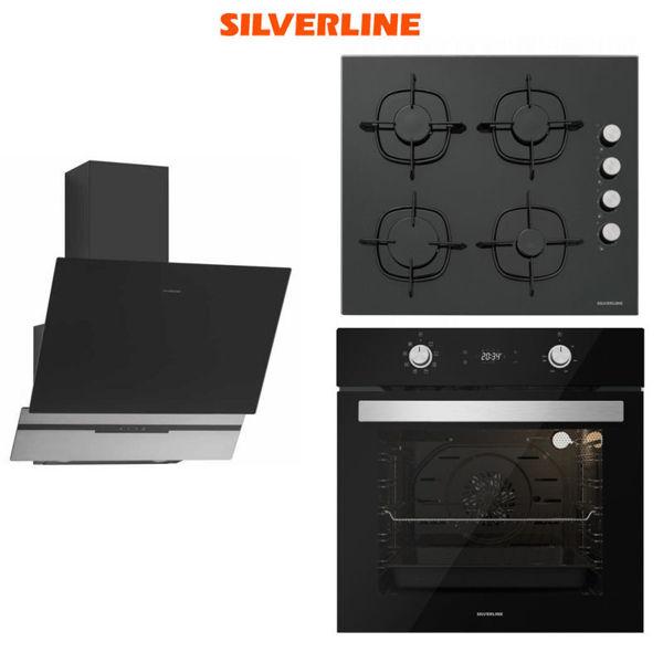 Silverline Ankastre Set [SLIM-LINE BASIC60+CS5343B+BO6504B] (SLV125) resmi