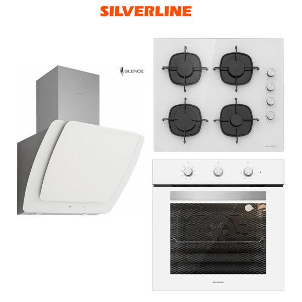 Silverline Beyaz Ankastre Set [MISTO60+CS5335W+BO6503W] (SLV119) resmi