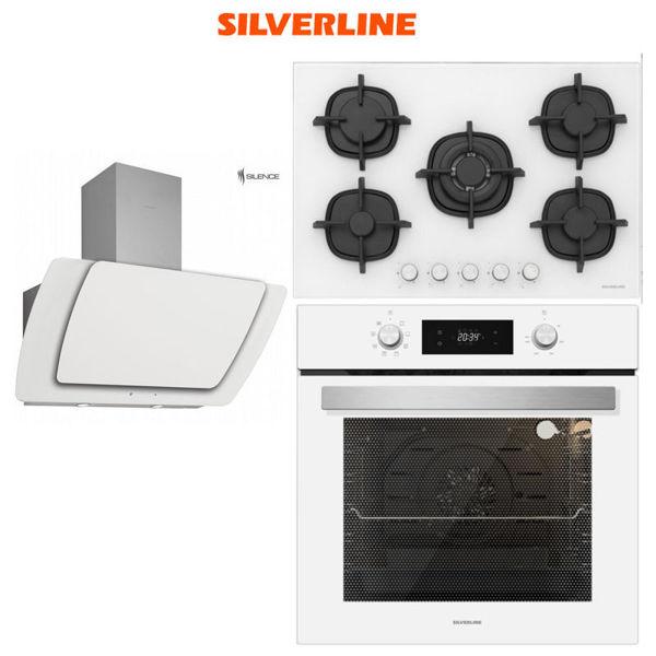 Silverline Beyaz Ankastre Set [MISTO90+CS5364W+BO6504W] (SLV115) resmi