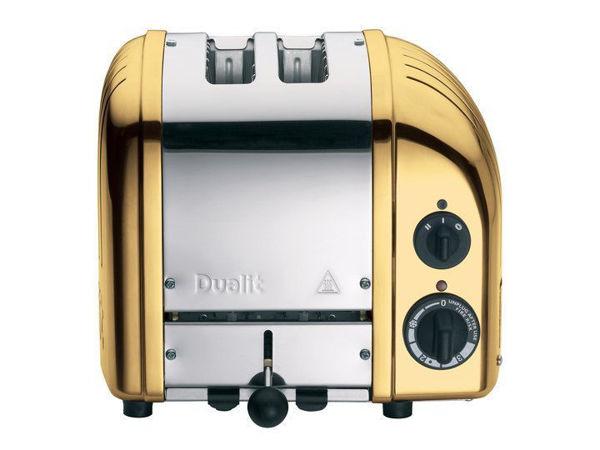 Dualit Ekmek Kızartma Makinası Classcık 2 Hazneli Prinç Rengi resmi