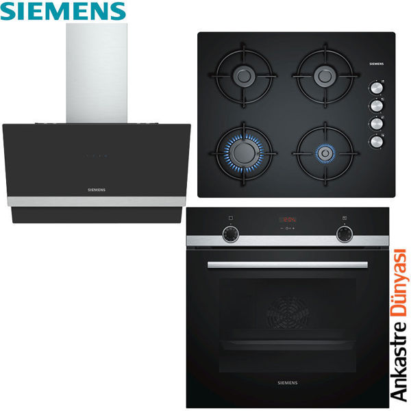 Siemens Ankastre Set [LC65KAJ60T+EO6C6PB11O+HB514FBR0T] (SMN18) resmi