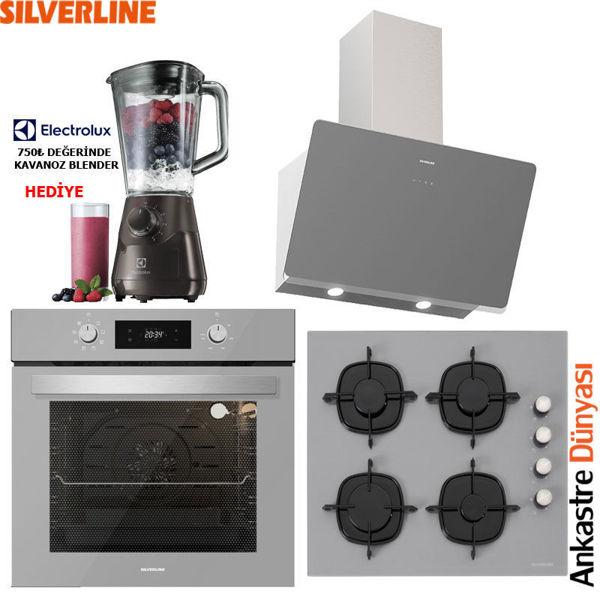 Silverline Ankastre Set [SOHO60+CS5335S+BO6504S] (SLV81) resmi
